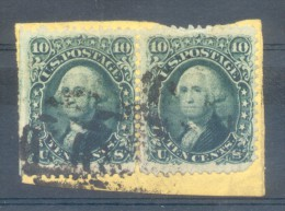 UNITED STATES OF AMERICA YVERT NR. 22 PAIR WASHINGTON GEORGE AÑO 1861 - 1847-99 Algemene Uitgaves