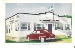 188- Cafe Du Pavillon, Portneuf, Quebec  Vintage Car - Quebec