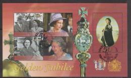 Tokelau 2002 QE11 Golden Jubilee Miniature Sheet FU