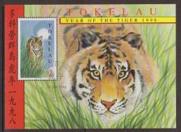 Tokelau 1998 Chinese New Year Tiger Miniature Sheet FU