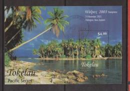 Tokelau 2003 Wellpex Palm Tree Miniature Sheet FU