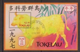 Tokelau 1997 Chinese New Year Ox Miniature Sheet FU