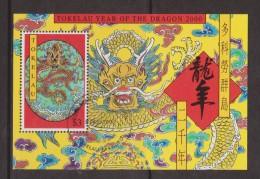 Tokelau 2000 Chinese New Year Dragon Miniature Sheet FU