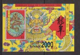 Tokelau 2000 Chinese New Year Dragon Youth Stamp Exhibition Overprint  Miniature Sheet FU