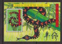 Tokelau 2001 Chinese New Year Snake Miniature Sheet FU