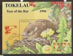 Tokelau 1996 Chinese New Year Sheep Rat China Overprint Miniature Sheet FU