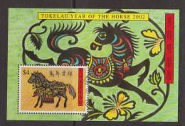 Tokelau 2002 Chinese New Year Horse Miniature Sheet FU