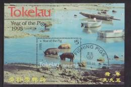 Tokelau 1995 Chinese New Year Pig Miniature Sheet FU