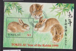 Tokelau 1999 Chinese New Year Rabbit Miniature Sheet FU