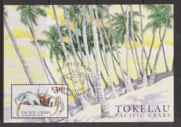 Tokelau 1999 Crab Miniature Sheet FU