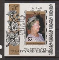 Tokelau 1996 QEII Birthday Miniature Sheet FU