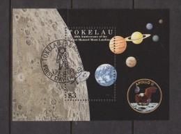 Tokelau 1999 Space Moon landing Anniversary Miniature Sheet FU
