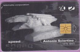 Malte  50  :-.   Antonio  Sciortino  -  Speed  °  Gem  1738   *    Courant  Utilisée - Malte