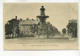 Carte Pub 51 : REIMS  Fontaine Bartholdi     Maison Clerc Et Pétrement Rue Carnot    A    VOIR  !!!! - Reims
