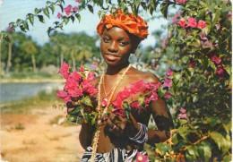 Afrique.. Sierra Leone.. Jeune Fille Aux Fleurs.. Seins Nus - Sierra Leone