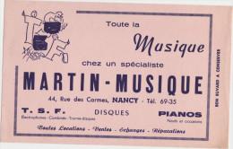 Buvard : Toute la Musique chez un sp�cialiste MARTIN-MUSIQUE � NANCY