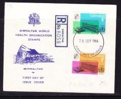 Gibraltar 1966 WHO REGISTERED First Day Cover - Gibraltar