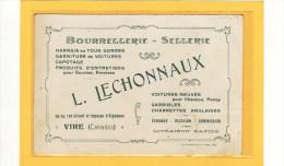 VIRE (14) / CARTES DE VISITES / Bourrellerie-sellerie L. LECHONNAUX, 24-29,rue Girard Et Imp.d´Aigneaux - Cartes De Visite