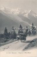 CHAMONIX - N° 2213 - DILIGENCE ET MONT-BLANC - Chamonix-Mont-Blanc
