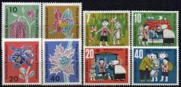 WF/Jugendserie 1961 BRD 369/2+392/5 ** 3€ Flora/Philatelie Blumen Akalei Distel Märchen Hänsel&Gretel Flower Set Germany - Kind & Jugend