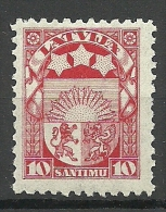 LETTLAND Latvia 1923 Coat Of Arms Wappe Michel 93 MNH - Lettonie