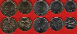 Samoa set of 5 coins: 10 sene - 2 tala 2011 UNC