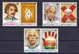 Aitutaki 1980 Albert Einstein Set Of 6 MNH - Aitutaki