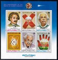 Aitutaki 1980 Albert Einstein Minisheet MNH - Aitutaki