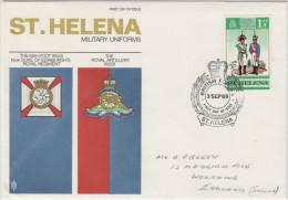 ST. HELENA - 1969 - Military Uniforms - British Forces - FDC - Viaggiata Per Worthing - Isola Di Sant'Elena