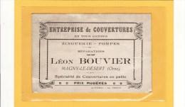 MAGNY LE DESERT (61) / CARTES DE VISITES / ENTREPRISE DE COUVERTURES / Léon BOUVIER - Cartes De Visite
