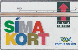 """Iceland, ICE-D-05, 100 SKREF, 1992 """"Simakort"""", CN : 208A, Mint,  2 Scans. - Iceland"""