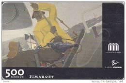 Iceland, ICE-C-01, 500 Kronur, Gunnlaugur Sheving´s Painting, 2 Scans.  Please Read - Iceland