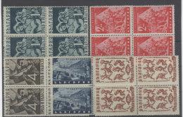 Bulgarien Michel No. 437 - 441 ** postfrisch Viererblock / 2 Marken No. 437, 440 * ungebraucht