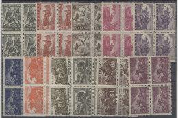Bulgarien Michel No. 548 - 558 ** postfrisch Viererblock