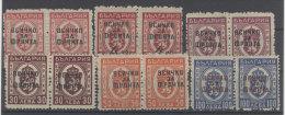 Bulgarien Paketmarken Michel No. 30 - 36 ** postfrisch Paar / ohne No. 33