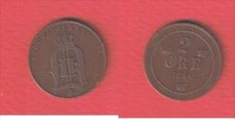 SUEDE  //   2 ORE  1884 //  KM # 746      //    ETAT  TTB - Suède