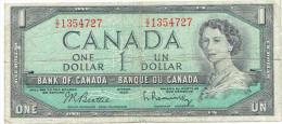 1 DOLLAR CANADA 1954 - Kanada