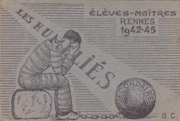 Rennes 35 Bretagne France Carte Ecole Guerre 1939 1945 Eleves Maitres Bac Résisitance ?1942-45 Les Humilies - Vieux Papiers