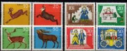 WF/Jugendserie 1966 BRD 511/4 + 523/6 ** 3€ Hochwild Reh Gemse Damhirsch Rothirsch Märchen Froschkönig Fauna Set Germany - Kind & Jugend