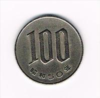 JAPAN  100 YEN 1975 ( 50 ) - Japon