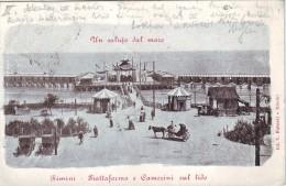 #3583 Italy, Rimini, Postcard Mailed 1903: The Way To The Strand, Animated - Rimini