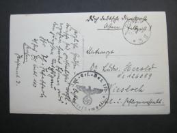 1939, POSEN , Polnischer Stempel Auf Ansichtskarte , 2 Scans - Briefe U. Dokumente