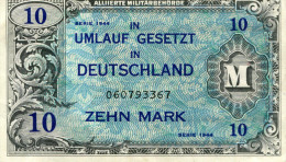 Germany Under Allied Occupation 10 Marks 1944 Series - 10 Mark