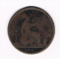 GREAT BRITAIN  1 PENNY 1863  VICTORIA - D. 1 Penny