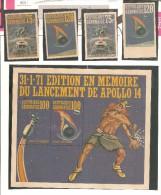2sellos  Dentados   Y 2 Sellos Sin Dentar De Gabon + Hb Dentada . - Astrología