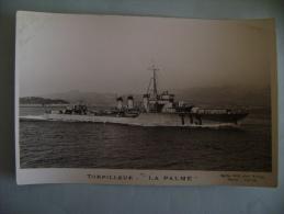 CP   TORPILLEUR LA PALME - Guerra