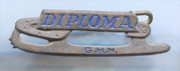 FIGURE SKATING - DIPLOMA GHN, Netherlands, Vintage Pin, Badge - Skating (Figure)