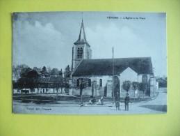 Cpa - Vémars (95) - L'église Et La Place - France