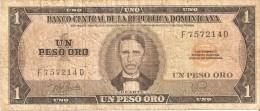 BILLETE DE LA REPUBLICA DOMINICANA DE 1 PESO ORO DEL AÑO 1978 DE DUARTE (BANKNOTE) RARO - República Dominicana