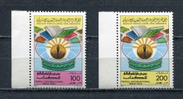LIBYA * 1985 * Mi # 1518 - 1519 TRIPOLI INTERNATIONAL BOOK FAIR MNH - Libië